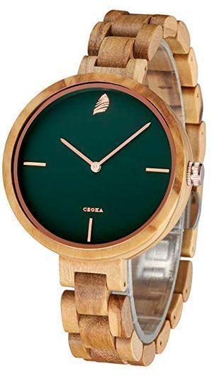 reloj de madera CZOKA para mujer