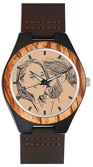 reloj de madera personalizable
