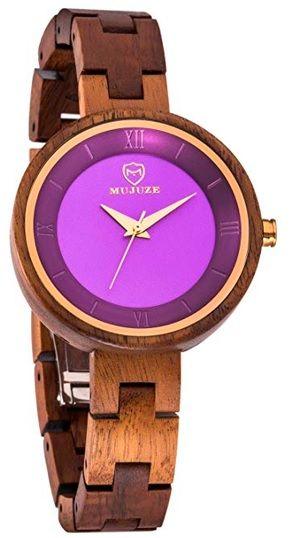 reloj orgánico de esfera violeta