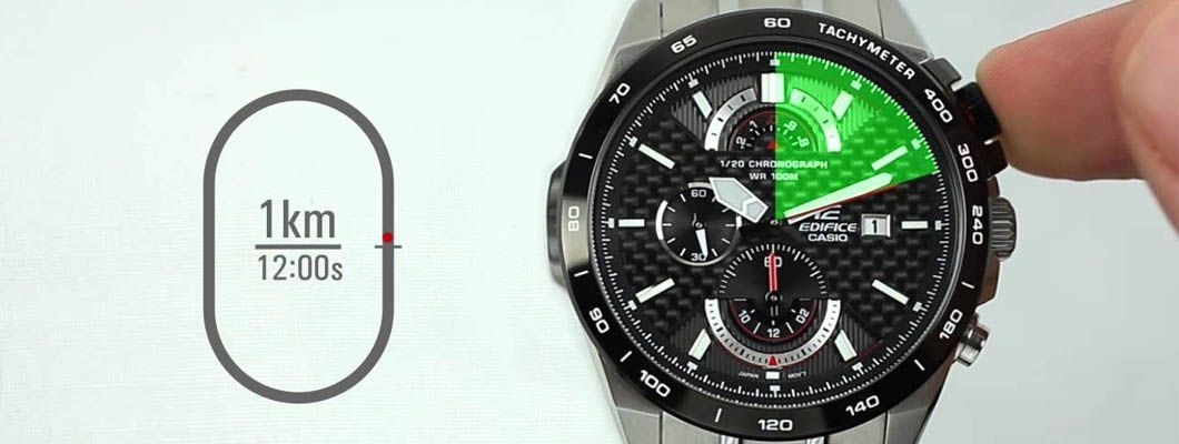 ¿Qué función tiene el taquímetro en los relojes?