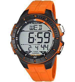 reloj naranja hombre deportivo