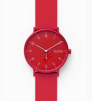 Reloj Skagen Aaren rojo
