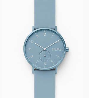 Skagen Aaren azul para mujer