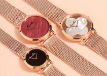 Relojes de oro rosa para hombre y mujer